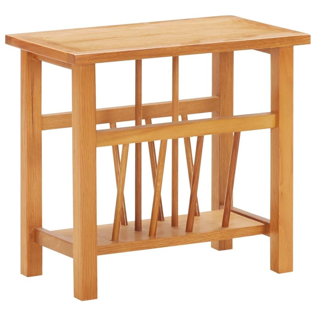 Tidningsbord 45x27x42 cm massiv ek och MDF
