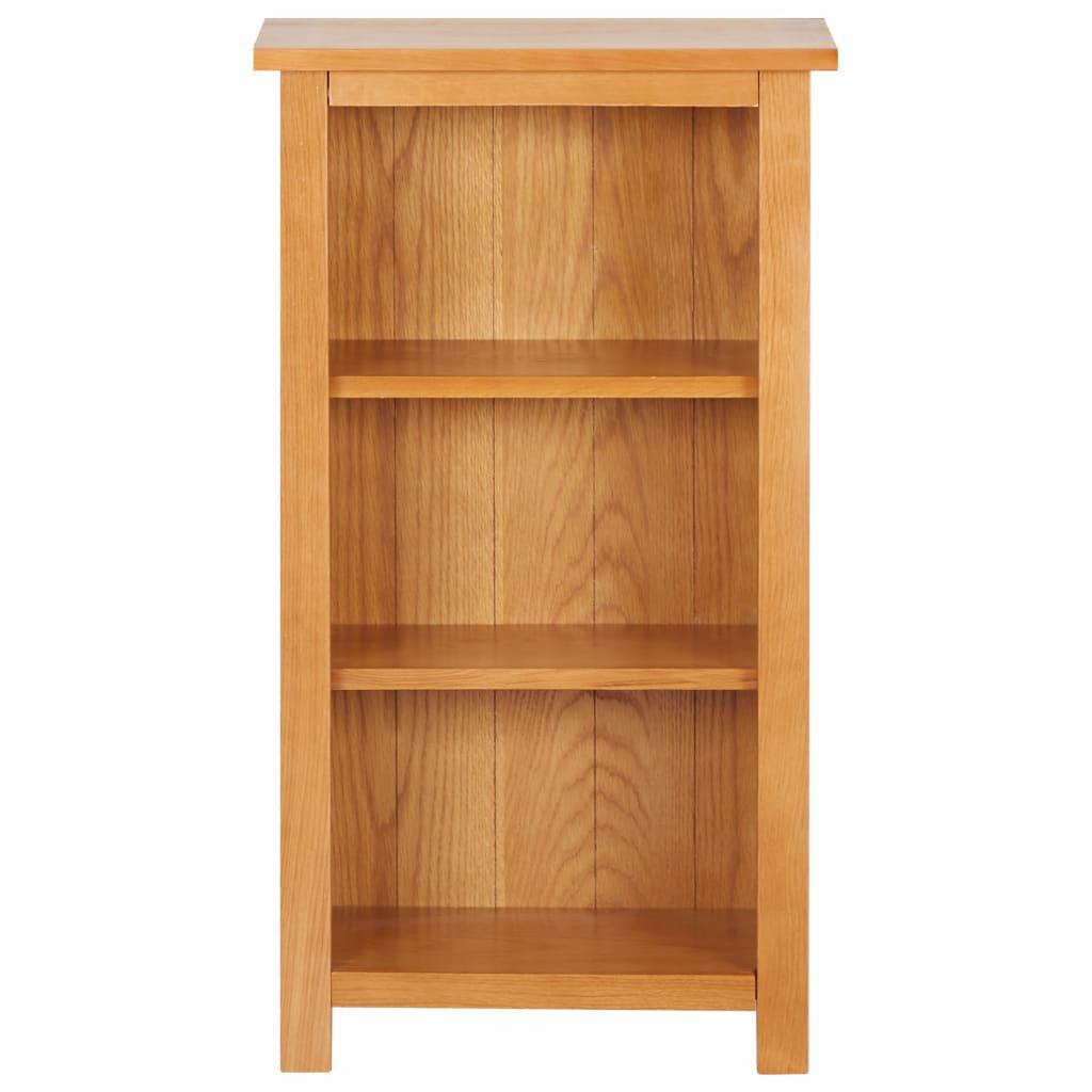 Smal bokhylla 45x22,5x82 cm massivt akaciaträ och MDF