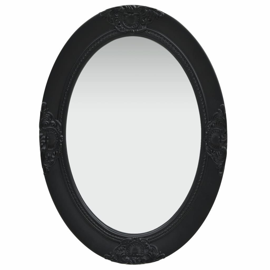 Väggspegel barockstil 50x70 cm svart