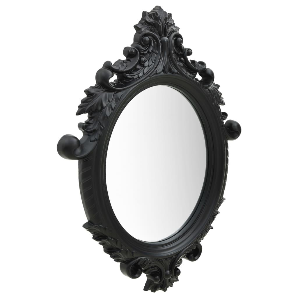 Väggspegel slottsstil 56x76 cm svart