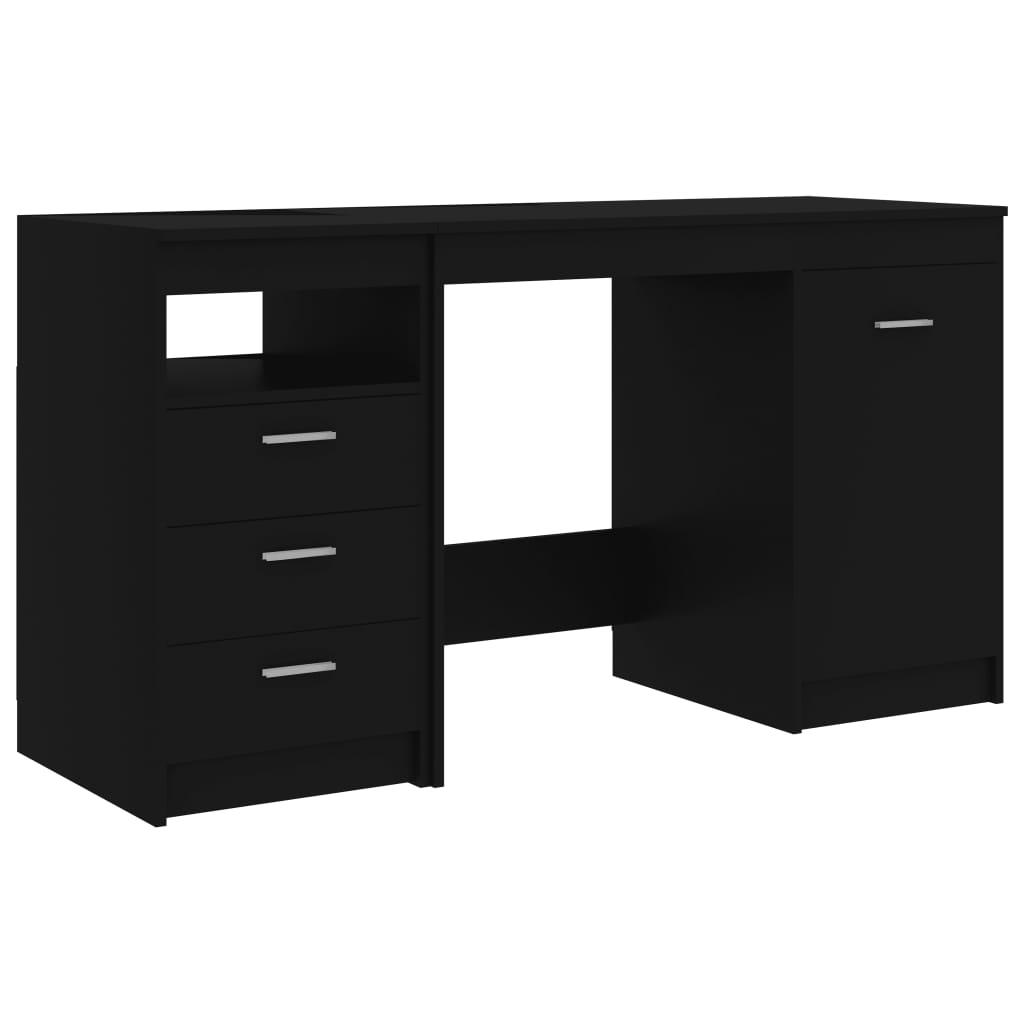 Skrivbord svart 140x50x76 cm spånskiva