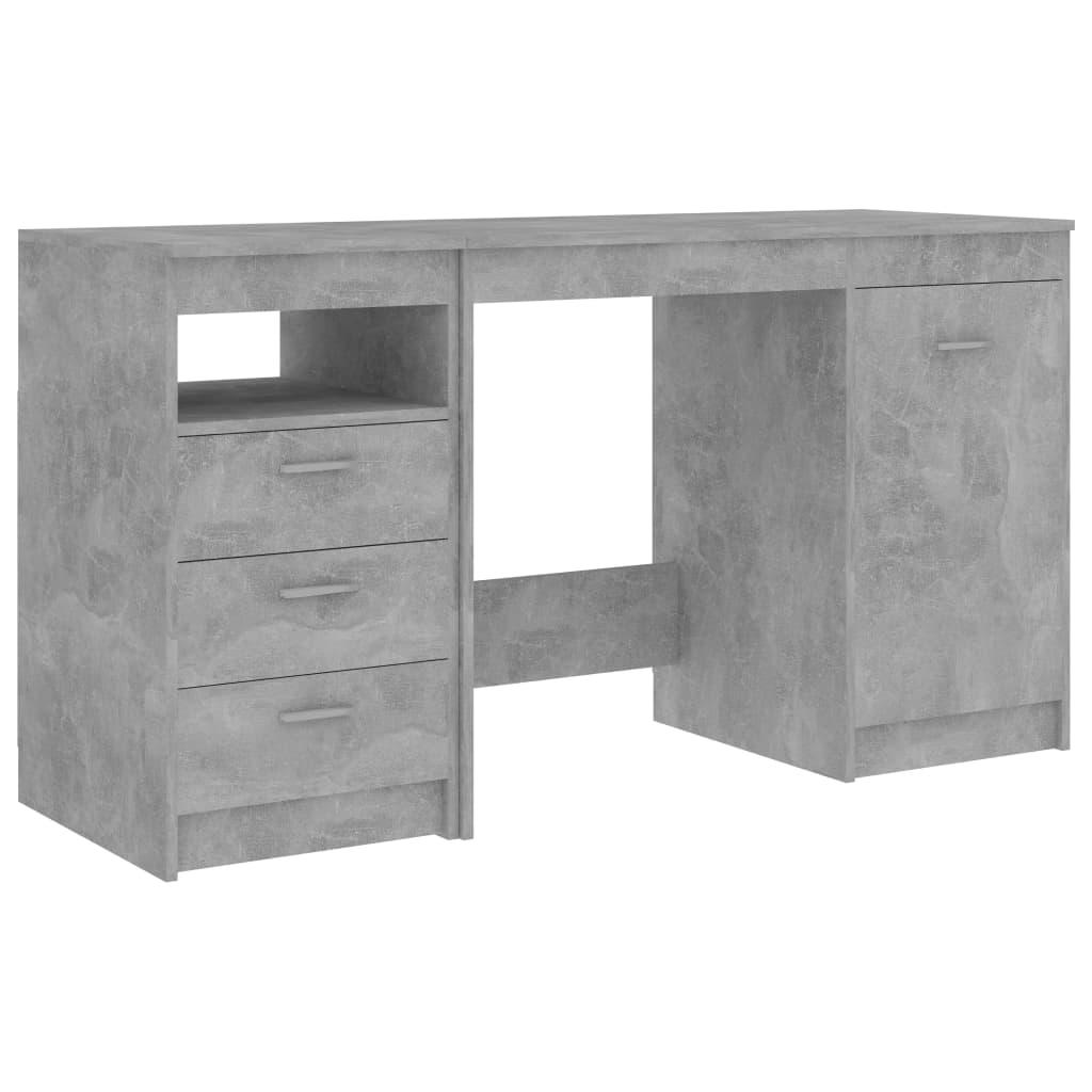 Skrivbord betonggrå 140x50x76 cm spånskiva