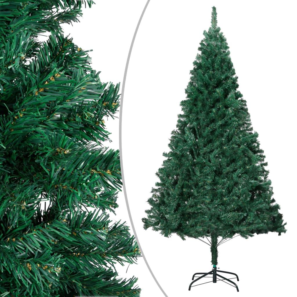Plastgran med tjocka grenar grön 210 cm PVC