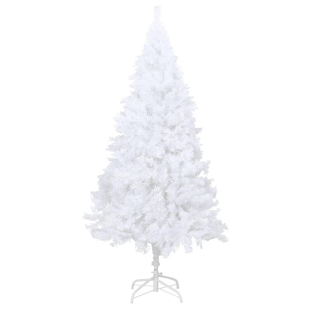 Plastgran med tjocka grenar vit 150 cm PVC