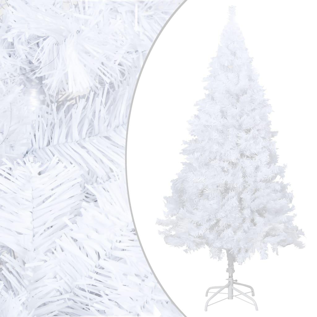 Plastgran med tjocka grenar vit 210 cm PVC
