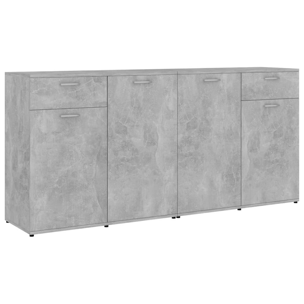 Skänk betonggrå 160x36x75 cm spånskiva