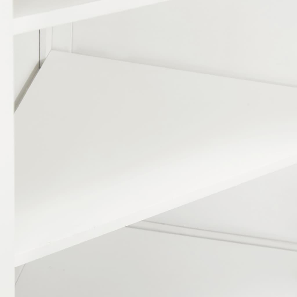 Hörnskåp 59x36x180 cm massiv ek