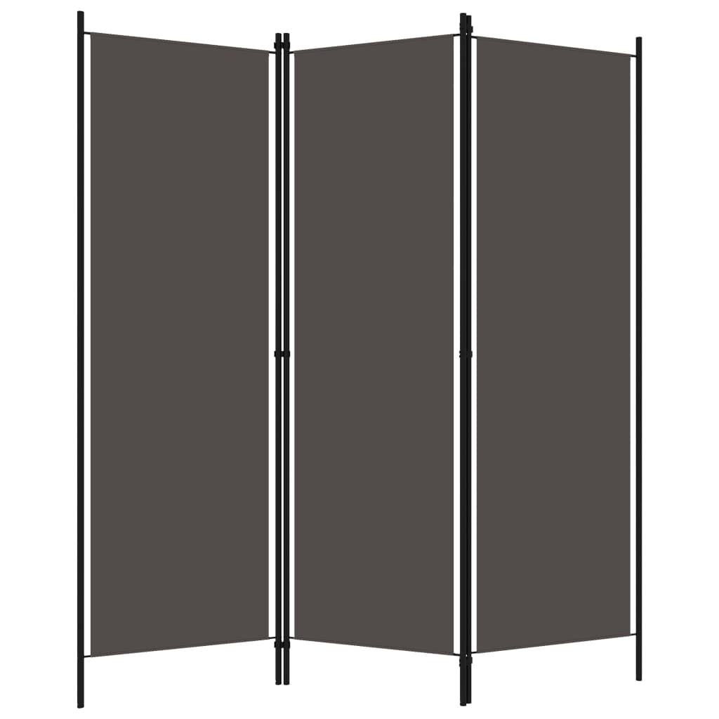 Rumsavdelare 3 paneler antracit 150x180 cm