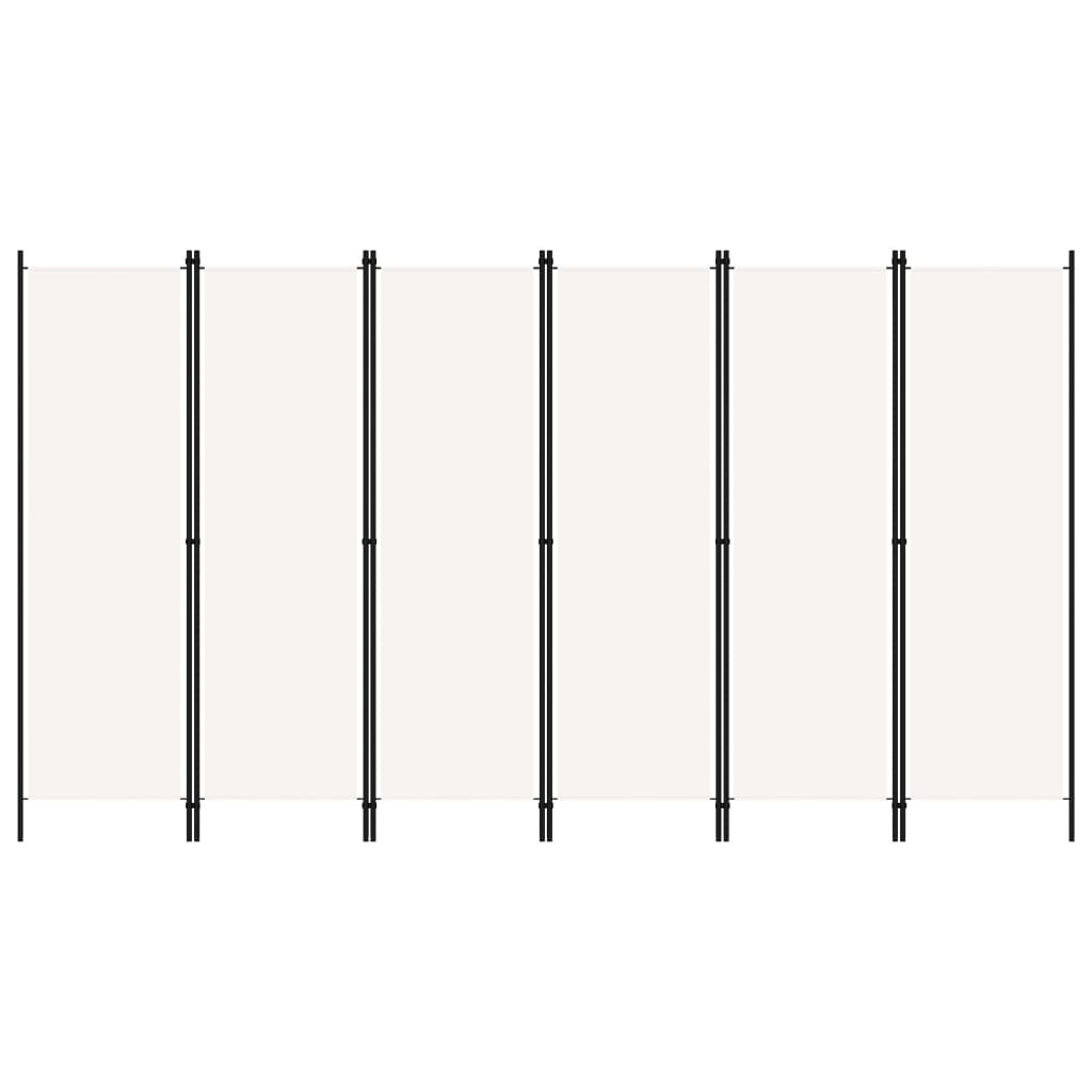 Rumsavdelare 6 paneler vit 300x180 cm