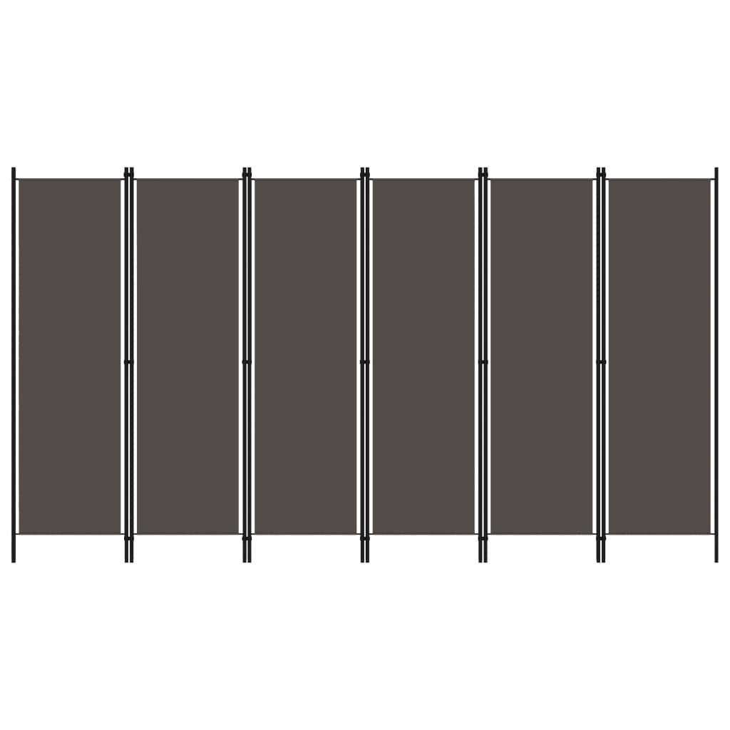 Rumsavdelare 6 paneler antracit 300x180 cm