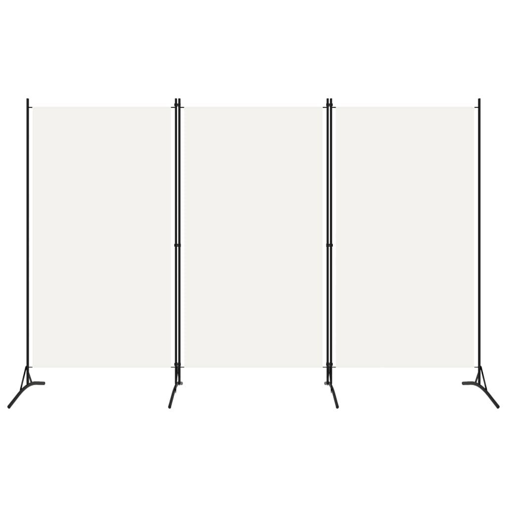 Rumsavdelare 3 paneler vit 260x180 cm