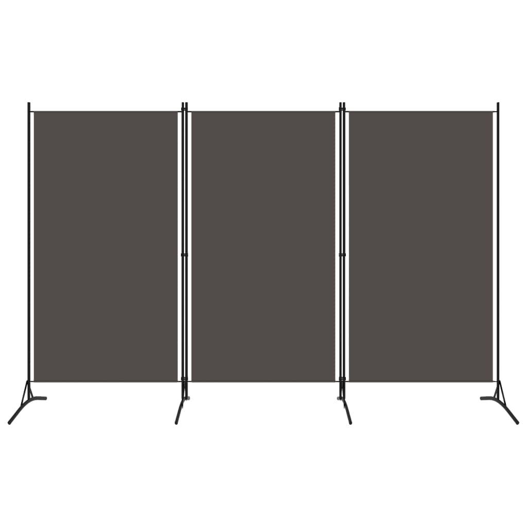 Rumsavdelare 3 paneler antracit 260x180 cm