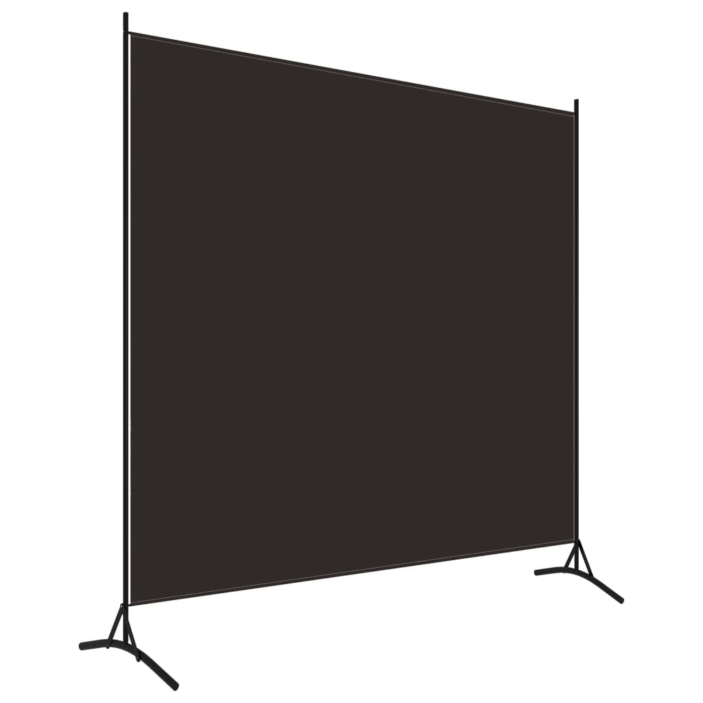 Rumsavdelare 1 panel brun 175x180 cm
