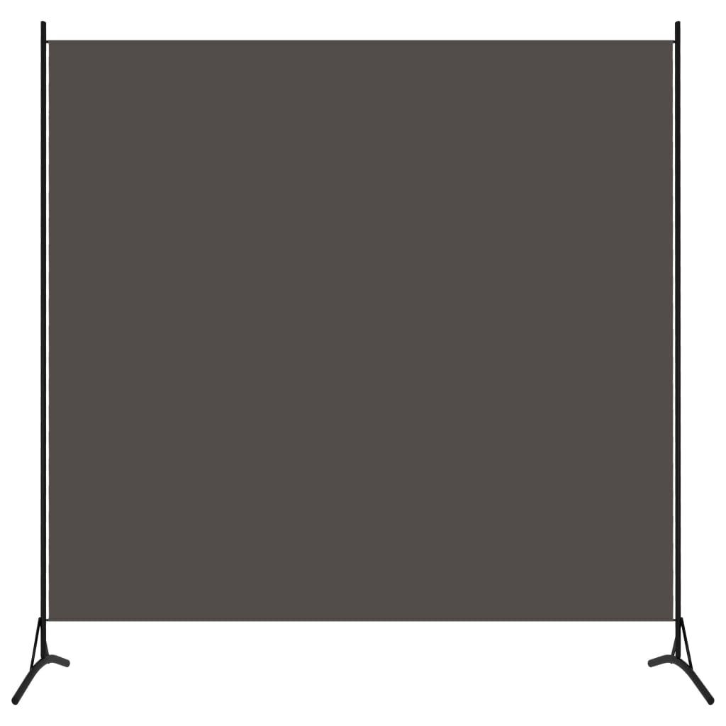 Rumsavdelare 1 panel antracit 175x180 cm