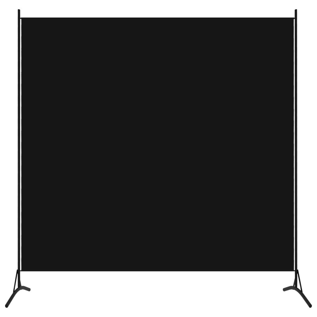 Rumsavdelare 1 panel svart 175x180 cm
