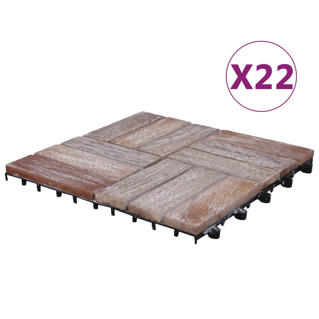 Trall 22 st 30x30 cm massivt återvunnet trä