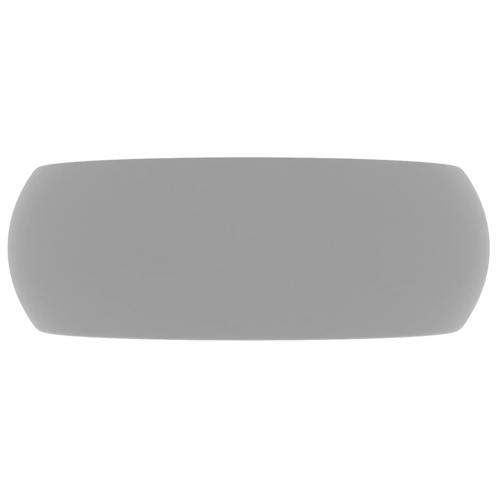 vidaXL Lyxigt runt handfat matt ljusgrå 40x15 cm keramik