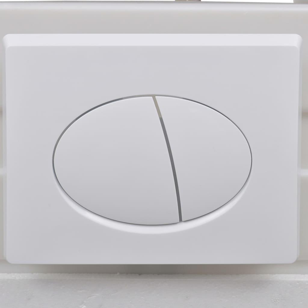 Vägghängd toalett med dold cistern keramik svart