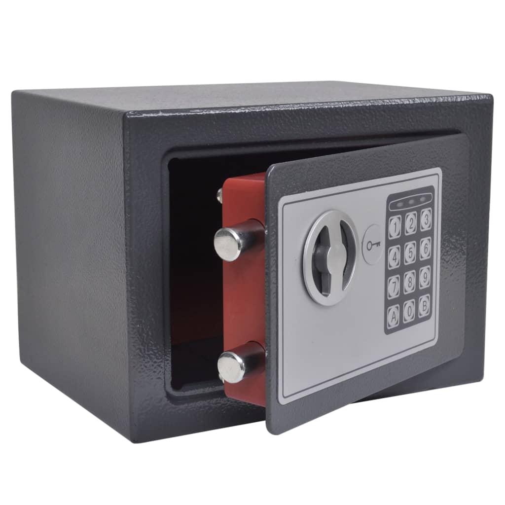 vidaXL Elektroniskt digitalt kassaskåp 23x17x17 cm