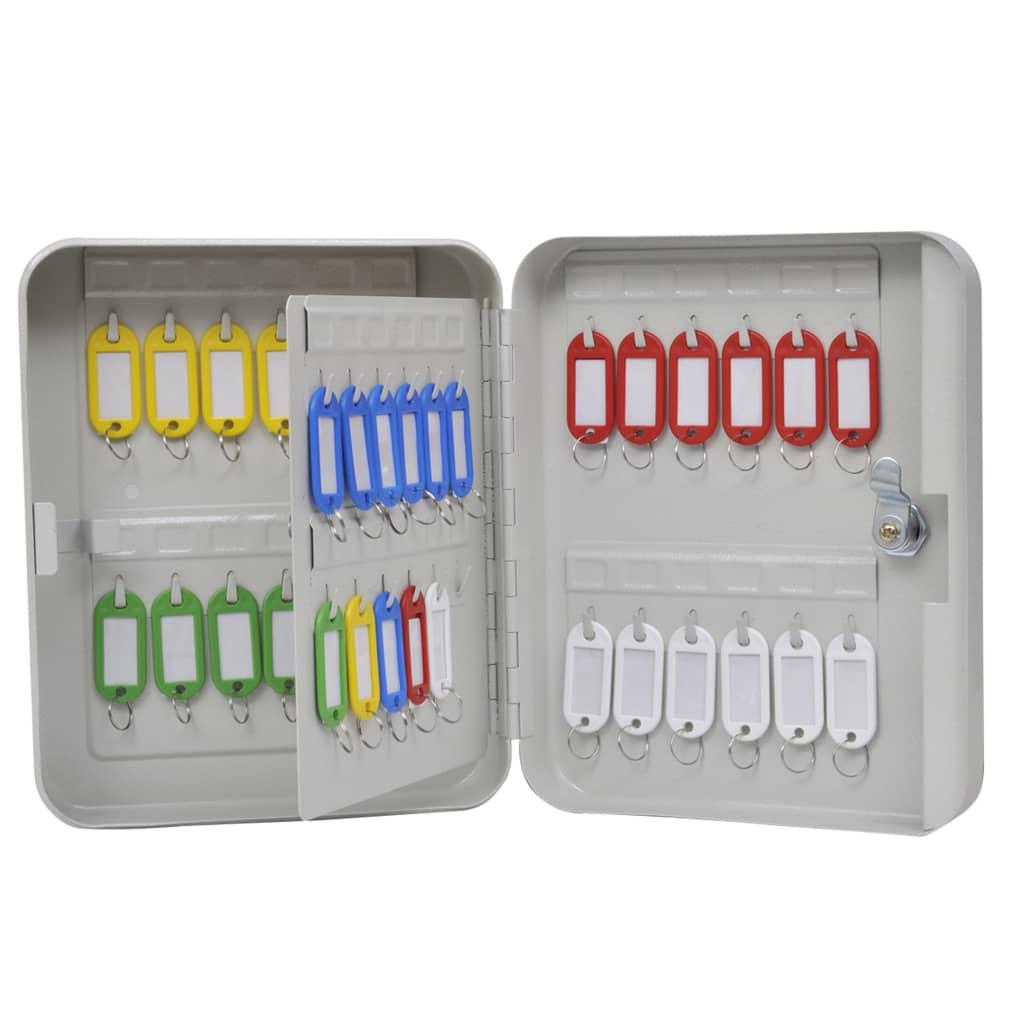 vidaXL Nyckelskåp med 48 nyckelbrickor