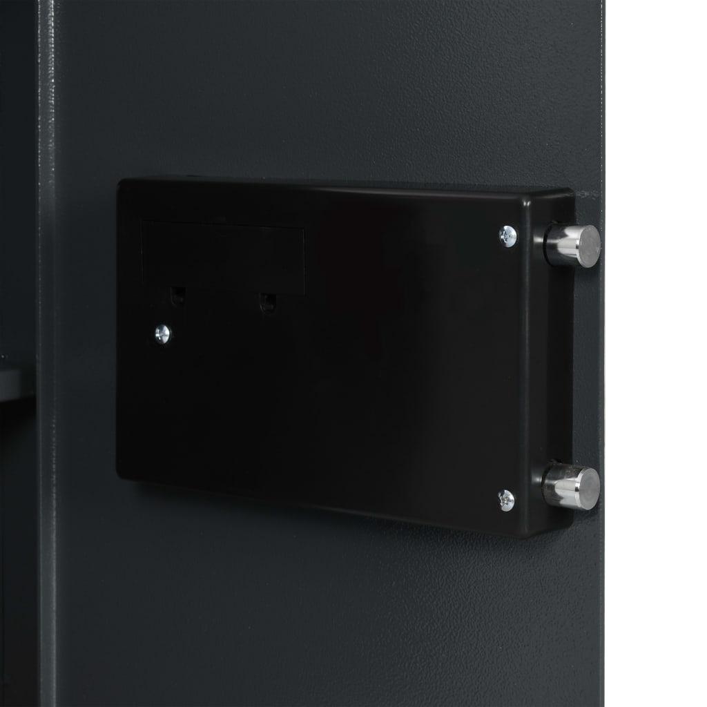 vidaXL Digitalt kassaskåp mörkgrå 40x35x60 cm