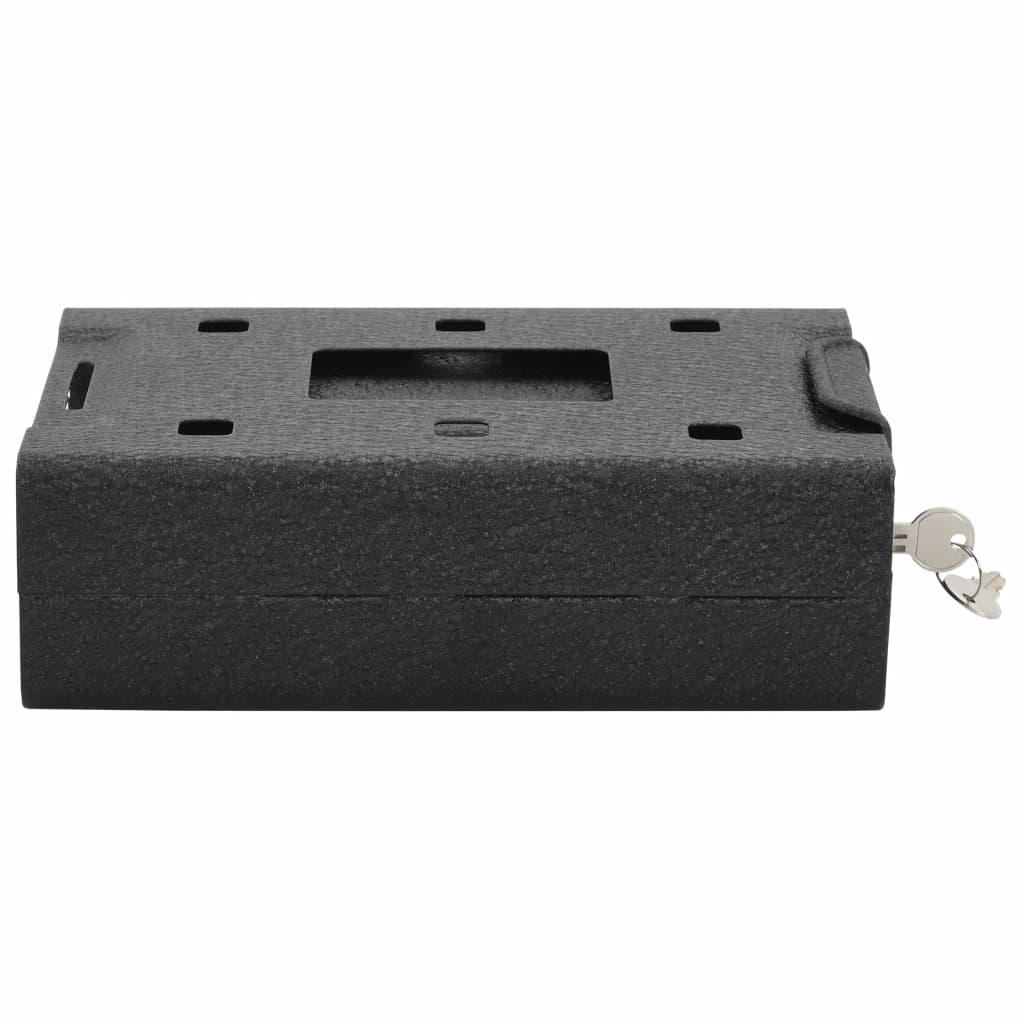 vidaXL Bilkassaskåp svart 21,8x16x7 cm stål