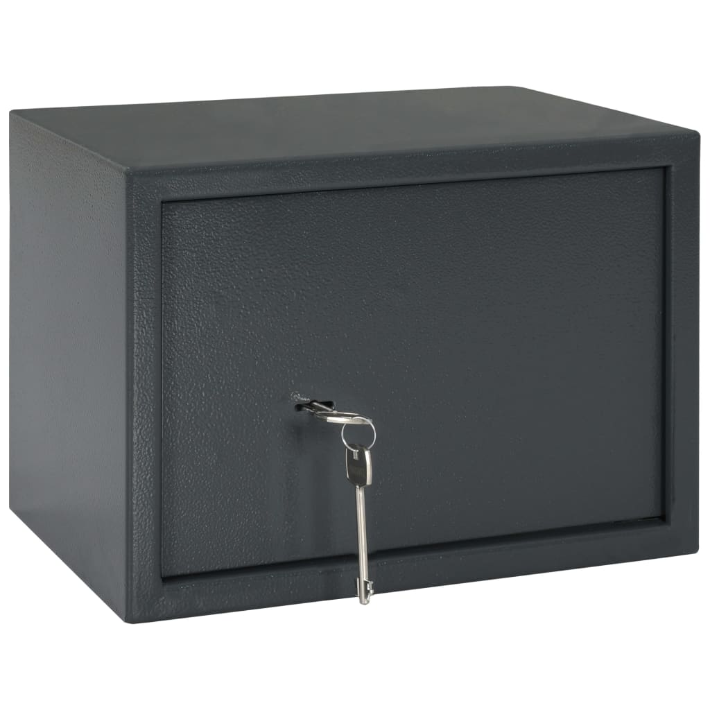 vidaXL Mekaniskt kassaskåp mörkgrå 35x25x25 cm stål