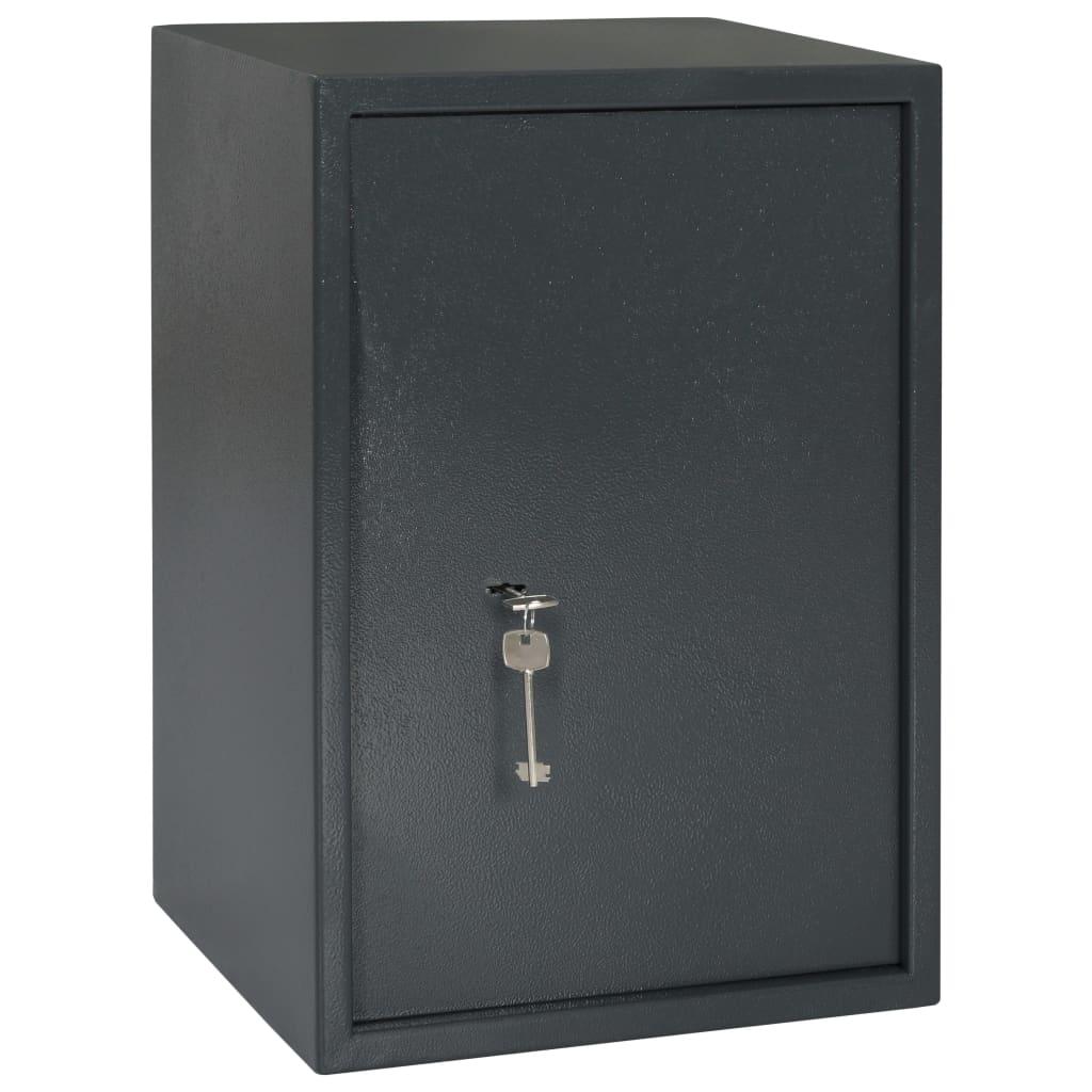 vidaXL Mekaniskt kassaskåp mörkgrå 35x31x50 cm stål