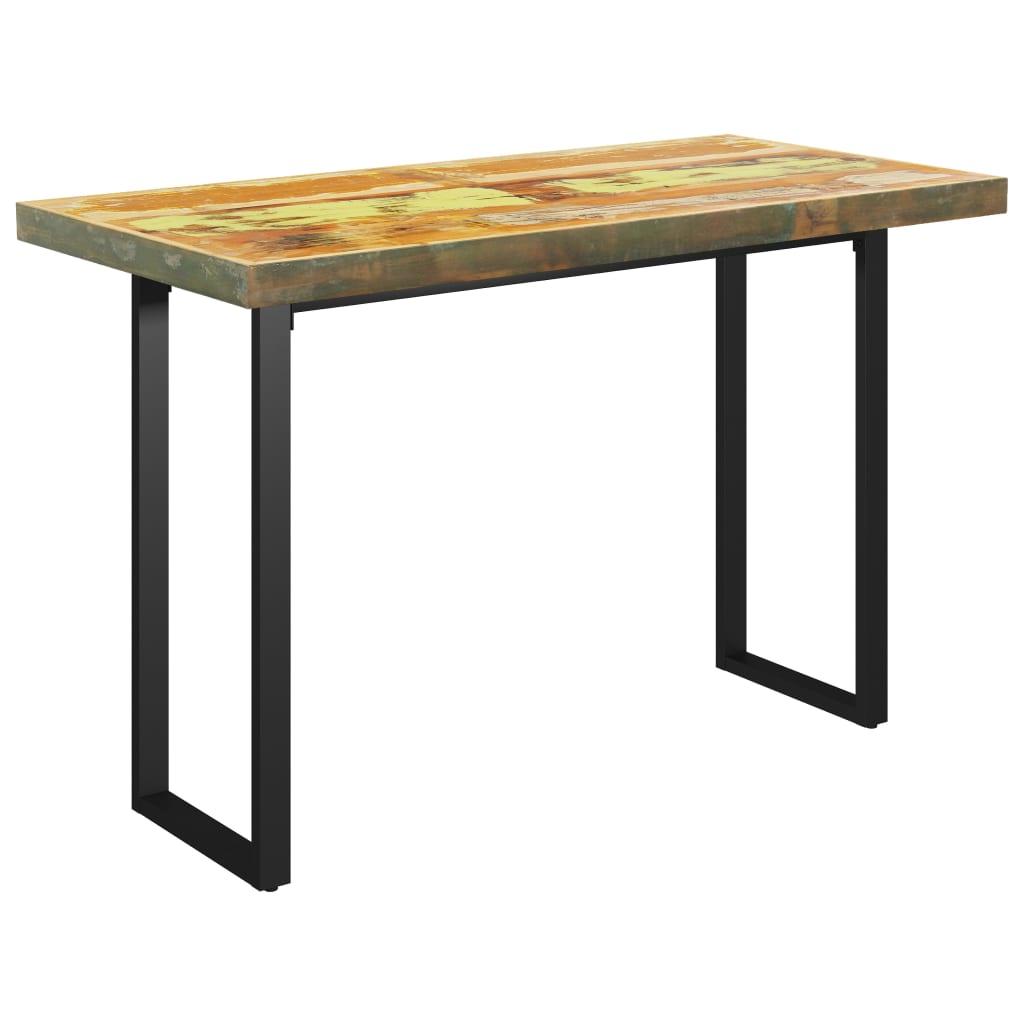 Matbord med O-formade ben 120x60x77 cm massivt återvunnet trä