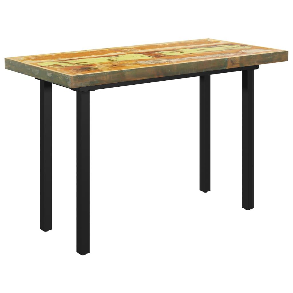 Matbord med I-formade ben 120x60x77 cm massivt återvunnet trä